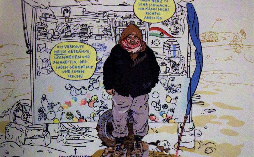 Zutritt verwehrt! Krieg und Vertreibung büssen auch im Comic nichts von ihrer Tragik ein